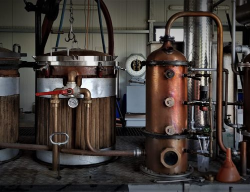Our first rum comes out of the still